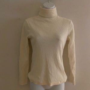 90s express tricot turtle neck ribbed long sleeve